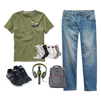 Arizona Little & Big Boys Wild by Nature Flex Straight Jean Outfit