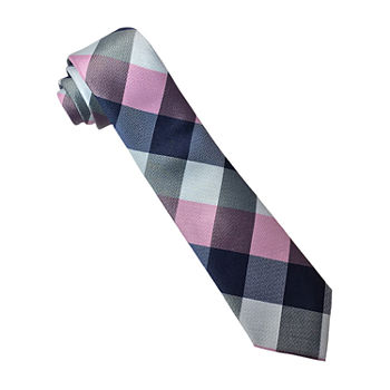 Little & Big Boys Plaid Tie