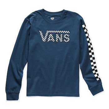 Vans Big Boys Round Neck Long Sleeve Graphic T-Shirt