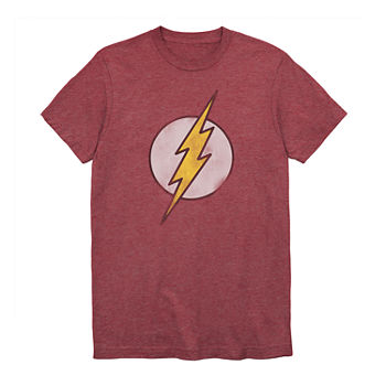 The Flash Mens Crew Neck Short Sleeve DC Comics Graphic T-Shirt