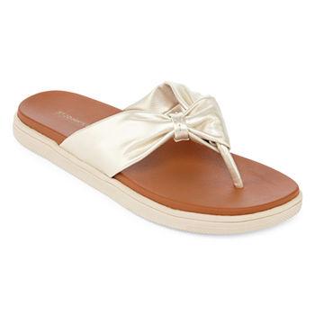 8bc7be41982b Flip-flops Yellow Women s Sandals   Flip Flops for Shoes - JCPenney