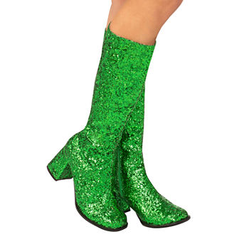 Adult Gogo Boot Green Costume Costume