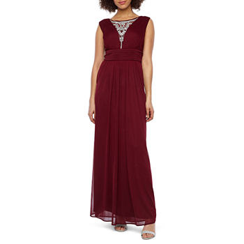 Scarlett Sleeveless Beaded Evening Gown