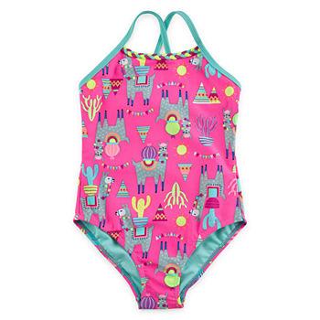 0273507aa56 Girls Bathing Suits, Girls Swimwear - JCPenney