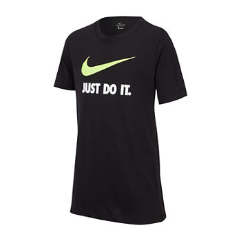 Nike Big Boys Crew Neck Short Sleeve Graphic T-Shirt