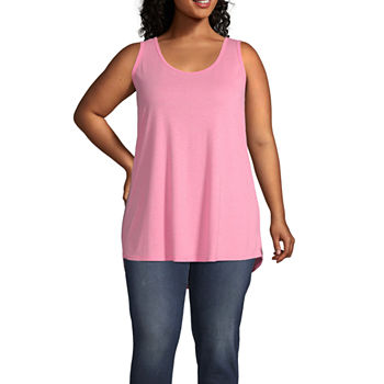 71f7978f Plus Size Pink Tops for Women - JCPenney