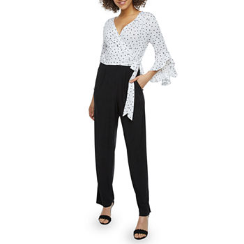 b4600319b7c 3 4 Sleeve Black Jumpsuits   Rompers for Women - JCPenney