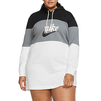 Nike Long Sleeve Logo T-Shirt Dress Plus