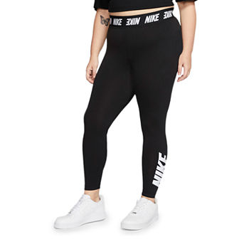 Nike Womens High Rise Full Length Leggings Plus