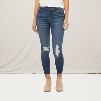 a.n.a Womens High Rise Ripped Jegging - Tall