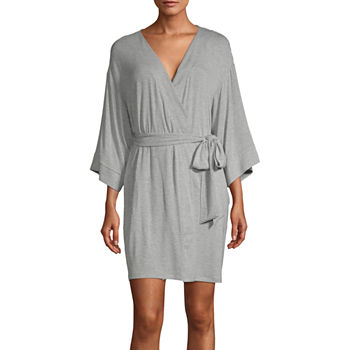 Ambrielle Womens Kimono Robes 3/4 Sleeve Knee Length