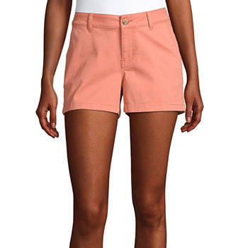 a.n.a Womens Mid Rise Chino Short