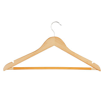 Honey-Can-Do 24 Pack Wood Hangers with Non-Slip Bar