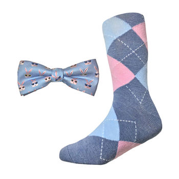 Little & Big Boys Animal Bow Tie & Socks Set