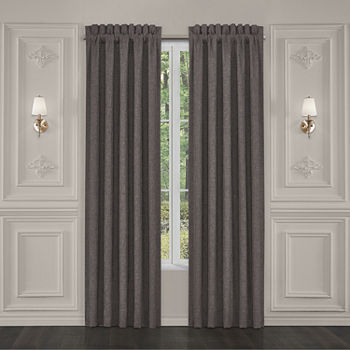 "Queen Street Florence 84"" Window Panel Pair Energy Saving Light-Filtering Rod-Pocket Set of 2 Curtain Panel"