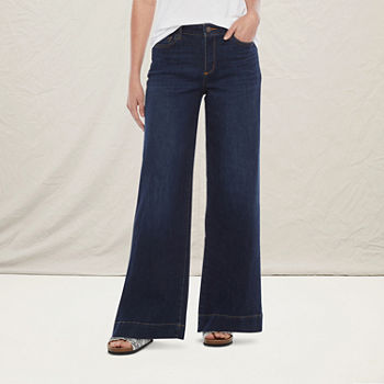 a.n.a Womens High Rise Wide Leg Jean