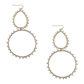 Bijoux Bar Simulated Pearl Drop Earrings