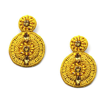 Bijoux Bar Yellow Drop Earrings