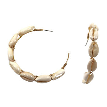 Bijoux Bar Puka Shell Hoop Earrings