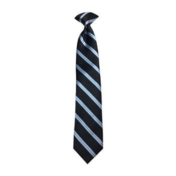 Little & Big Boys Striped Clip on Tie
