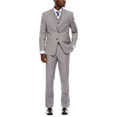 Collection by Michael Strahan Light-Gray Plaid Suit Separates - Classic Fit