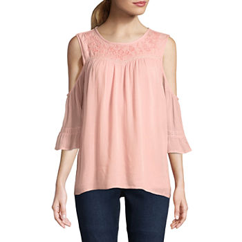 2a7ca8ba5b1 Elbow Sleeve Embellished Tops for Women - JCPenney