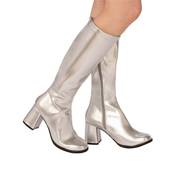 Adult Gogo Boot Silver Costume Costume