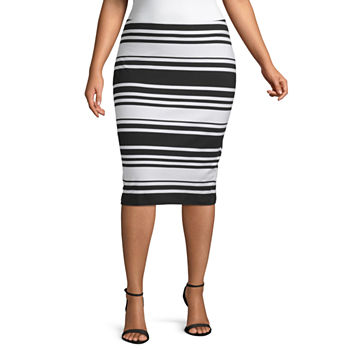 248001b5eab9 Plus Size Black Skirts for Women - JCPenney