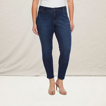 a.n.a-Plus Womens 5 Pocket Skinny Jean