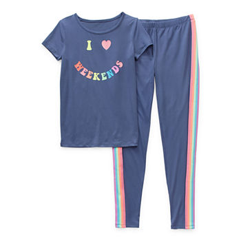 Arizona Little & Big Girls 2-pc. Pant Pajama Set