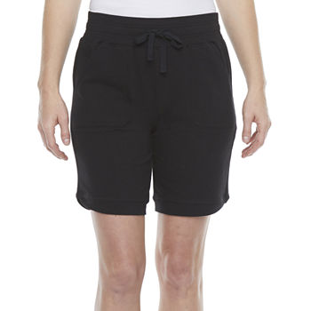 "St. John's Bay Womens Mid Rise Adjustable Waist 9"" Bermuda Short"