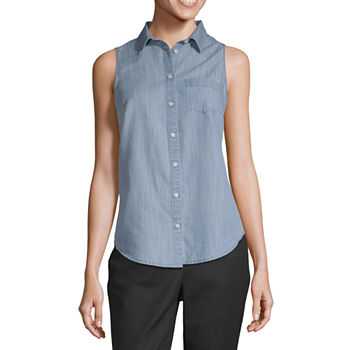 08b5fef5ae96 Denim Shirts + Tops for Women - JCPenney