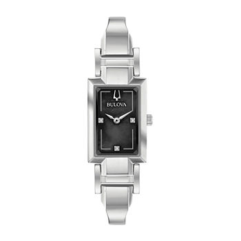 Bulova Classic Womens Silver Tone Stainless Steel Bangle Watch-96p209
