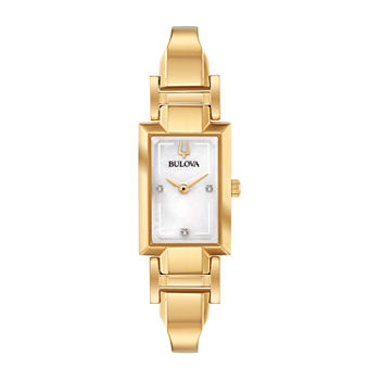 Bulova Classic Womens Gold Tone Stainless Steel Bangle Watch-97p141