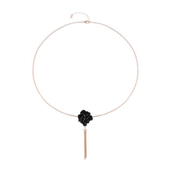 Mixit Black Flower 28 Inch Cable Pendant