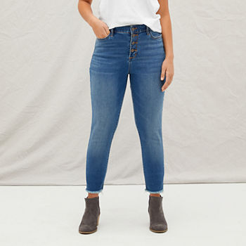 a.n.a Womens High Rise Button Fly Jegging