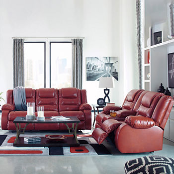 Superb Faux Leather Red Sofas For The Home Jcpenney Gamerscity Chair Design For Home Gamerscityorg