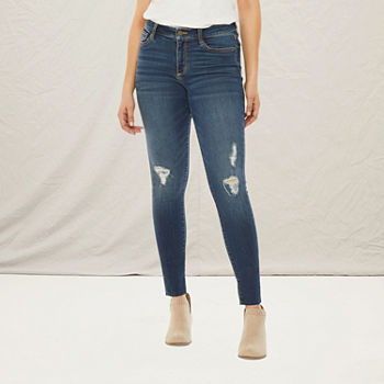 a.n.a-Tall Womens Destructed Jegging