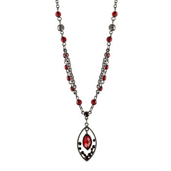 1928 Red 16 Inch Link Pendant