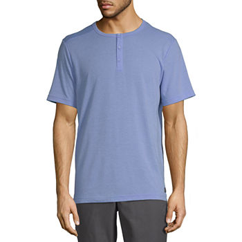 Msx By Michael Strahan Mens Henley Neck Short Sleeve T-Shirt