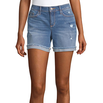 "a.n.a Womens Mid Rise 5"" Denim Short"
