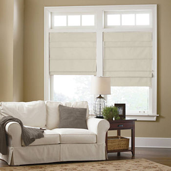 shade blinds home new is image itm treatment window silk s loading fold jcpenney roman faux fabric