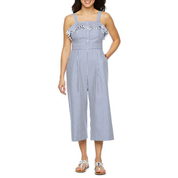 fb5a77e56e5f Sleeveless Blue Jumpsuits   Rompers for Women - JCPenney