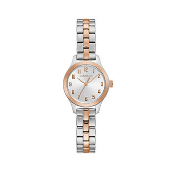 Caravelle Designed By Bulova Womens Rose Goldtone Stainless Steel Bracelet Watch - 45l175