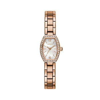 Caravelle Designed By Bulova Womens Rose Goldtone Stainless Steel Bracelet Watch - 44l242