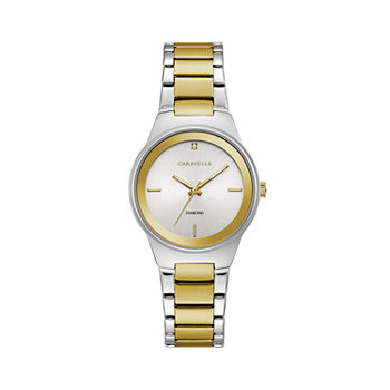 Caravelle Designed By Bulova Womens Rose Goldtone Stainless Steel Bracelet Watch - 45p108