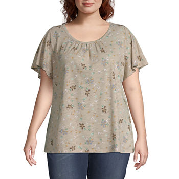 d5ec85a7866 Plus Size Brown Tops for Women - JCPenney