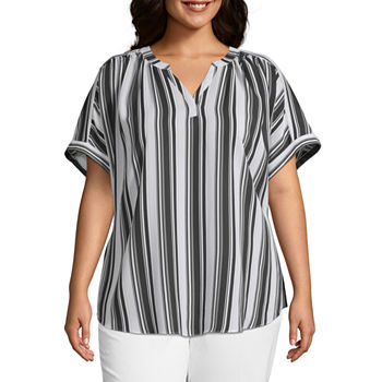 6dd58296f7a55 Worthington Plus Size Tops for Women - JCPenney