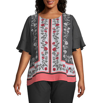 97818ef56978c Plus Size Tops for Women - JCPenney