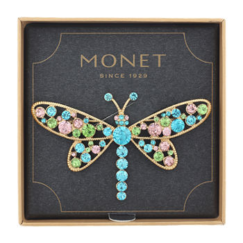 Monet Jewelry Dragonfly Multi Color Pin